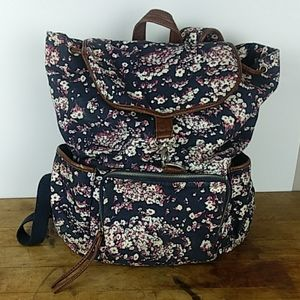 AEROPOSTALE Floral Canvas Backpack